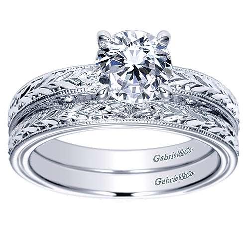 14K WG Engagement Ring    angle 4