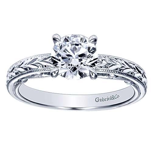 14K WG Engagement Ring    angle 5
