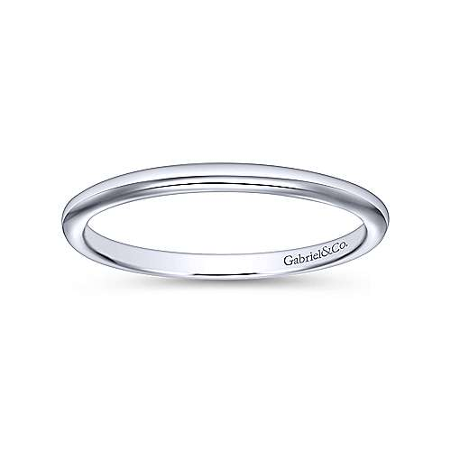 14K WG Wedding Band    angle 5