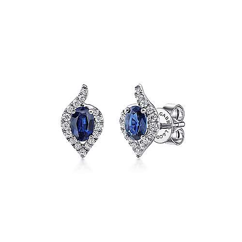 Gabriel - 14k White Gold Lusso Color Stud Earrings
