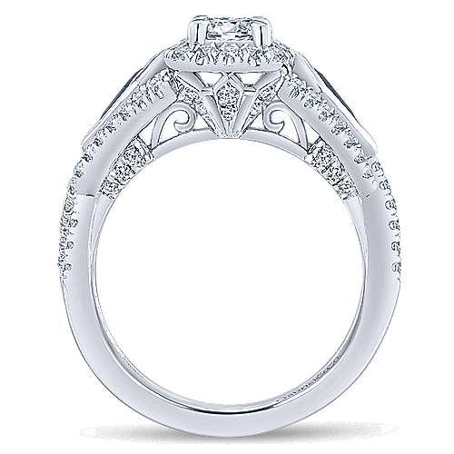 14K W.Gold Dia & SA Eng Ring angle 2
