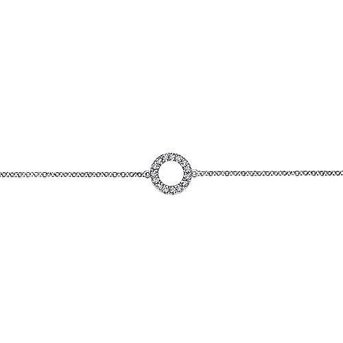 14K W.Gold Dia Bracelet angle 2