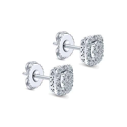 14K W.Gold Dia Earrings angle 2