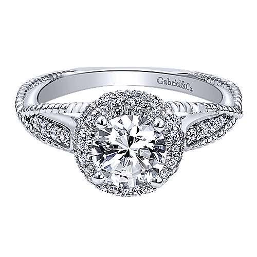 Gabriel - 14k White Gold Riata Engagement Ring