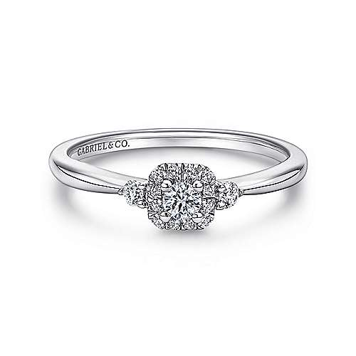 Gabriel - 14k White Gold Promise  Engagement Ring