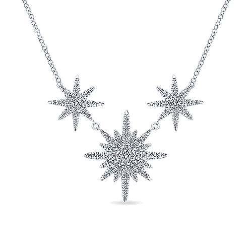 Gabriel - 14k White Gold Stellare Fashion Necklace