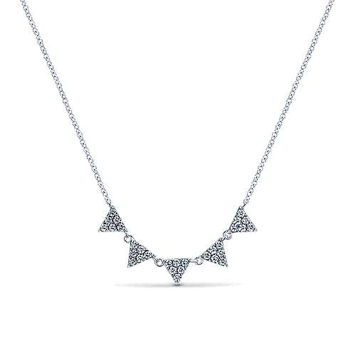 Gabriel - 14k White Gold Kaslique Fashion Necklace