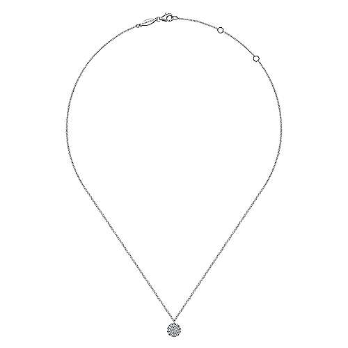 14K W.Gold Dia Necklace angle 2