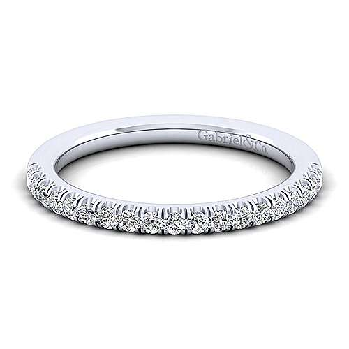 14k White Gold Contemporary Straight