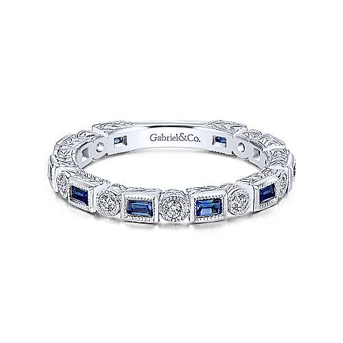 Gabriel - 14k White Gold Stackable Fashion Ladies' Ring