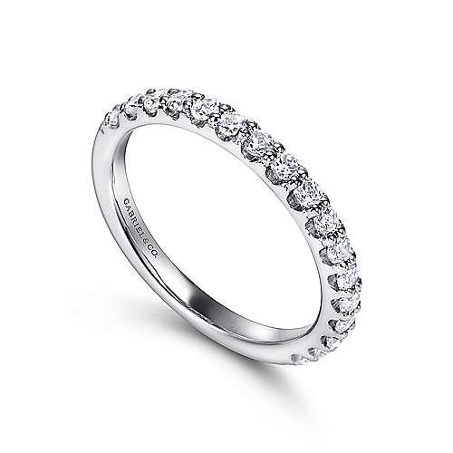 14K W.Gold Diamond An Band angle 3
