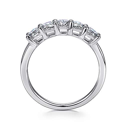 14K W.Gold Diamond Ann Band angle 2