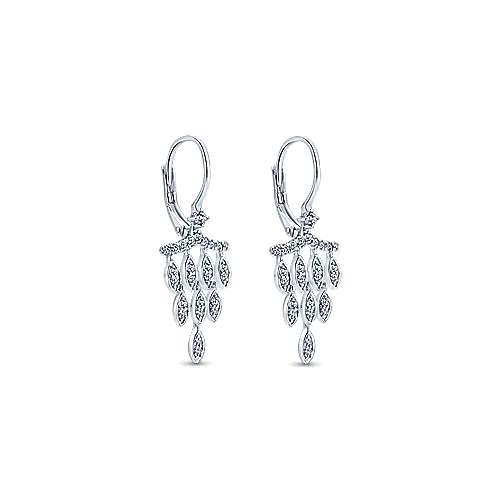 14K W.Gold Diamond Earrings angle 2