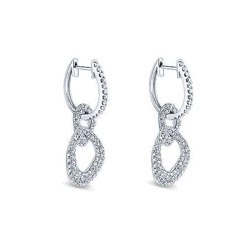 14K W.Gold Diamond Earring angle 2