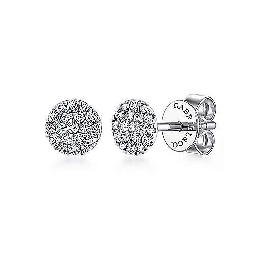 Gabriel - 14k White Gold Silk Stud Earrings