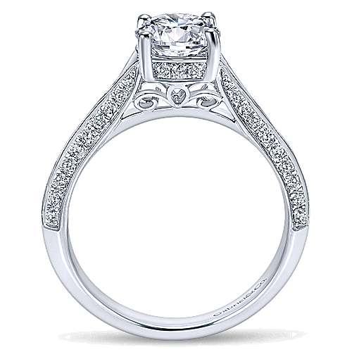 14K W.Gold Diamond Eng Ring angle 2
