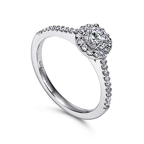 14K W.Gold Diamond Eng Ring angle 3