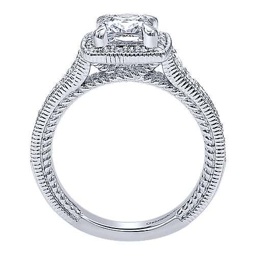 14K W.Gold Diamond Eng.Ring angle 2