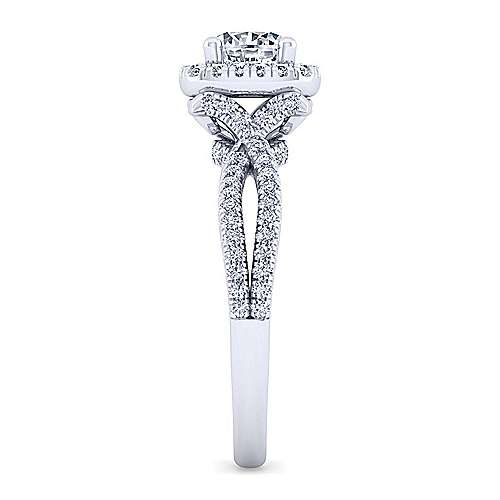 14K W.Gold Diamond Eng.Ring angle 5