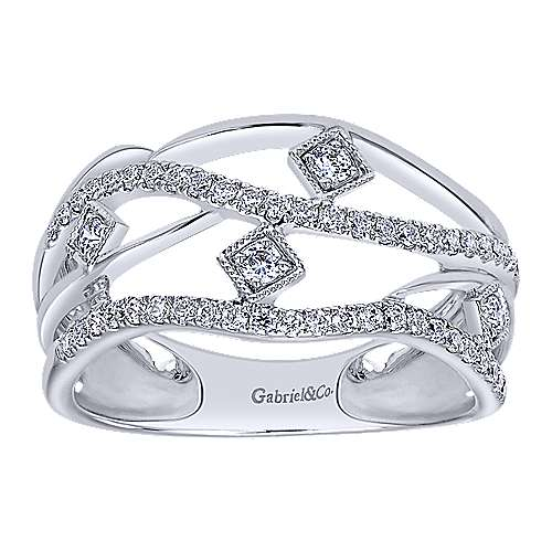 14K W.Gold Diamond Ladies