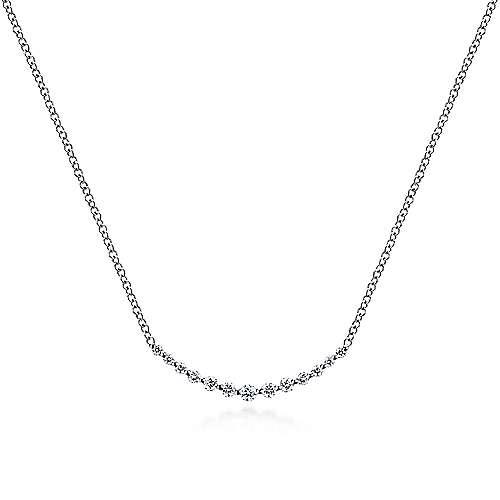 Gabriel - 14K W.Gold Diamond Necklace