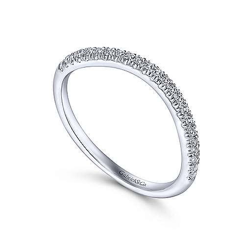14K W.Gold Diamond W.Band angle 3