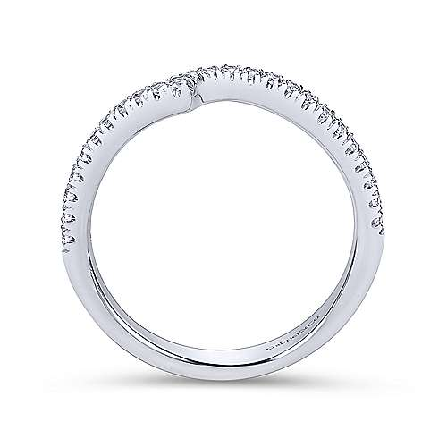 14K W.Gold Diamond W.Band angle 2