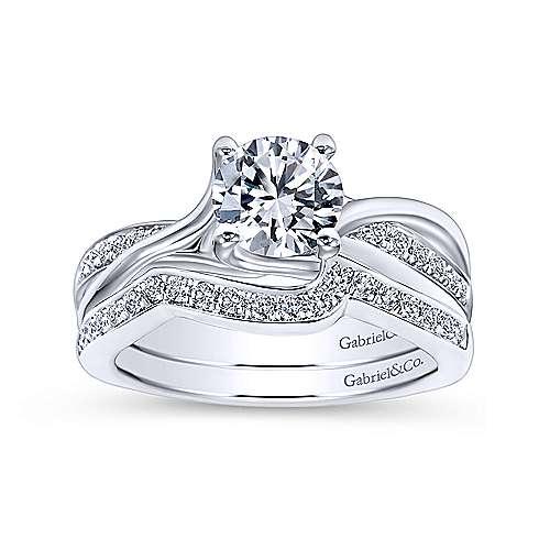 14K W.Gold Diamond Wed. Band angle 4