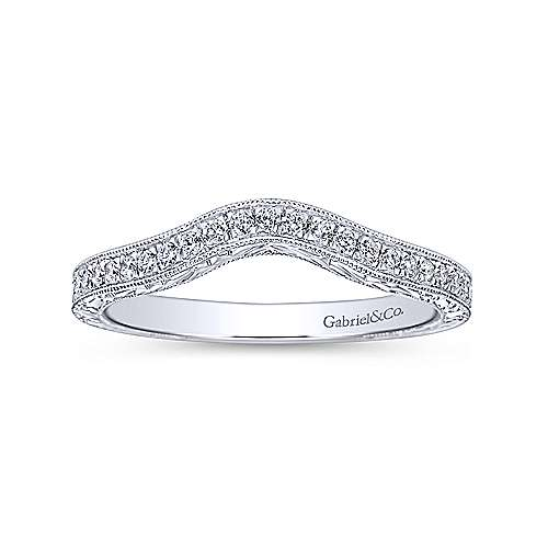 14K W.Gold Diamond Wed. Band angle 5