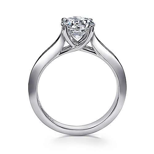 14K W.Gold Engag Ring angle 2