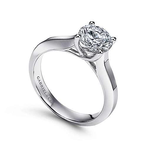14K W.Gold Engag Ring angle 3