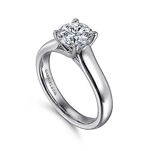 14K W.Gold Engagement Ring angle 3