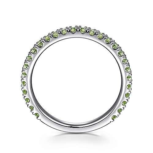 14K W.Gold Peridot Ring angle 2