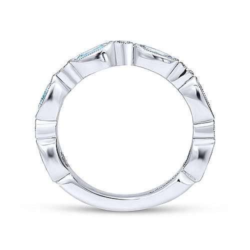 14K W.Gold,SkyBlueTop,Diamond Ring   angle 2