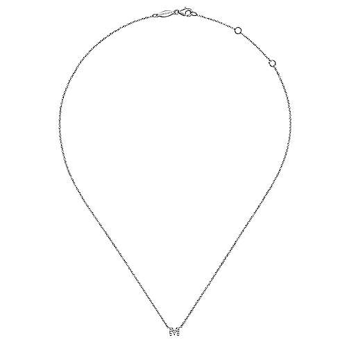 14K White Gold  Fashion Necklace angle 2