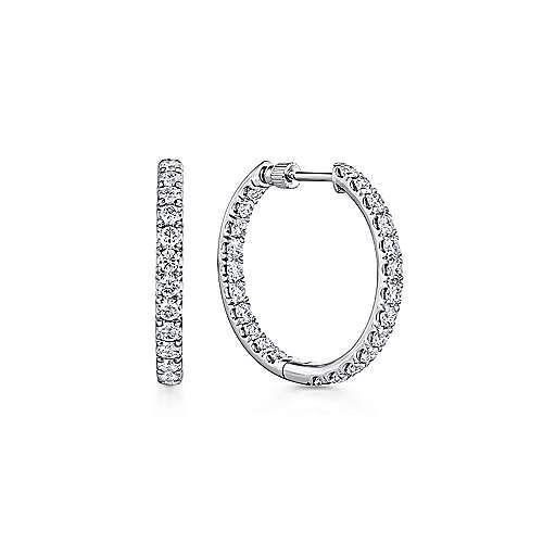 Gabriel - 14K White Gold 20MM Fashion Earrings