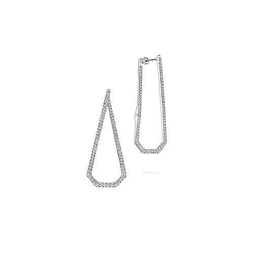 14K White Gold 40MM Fashion Earrings