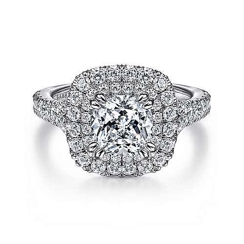 1d413fa507738e 14K White Gold Cushion Cut Diamond Engagement Ring | ER12675C6W44JJ ...