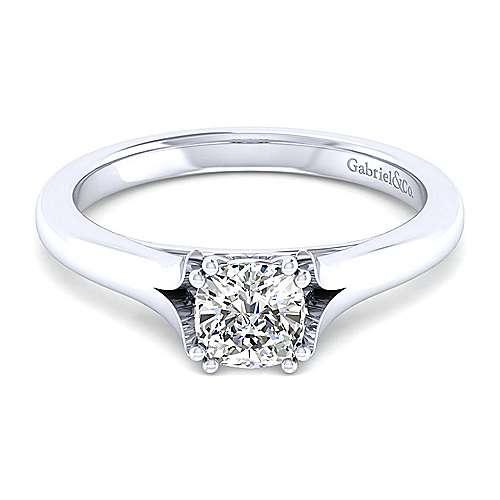 14k White Gold Cushion Cut Diamond Engagement Ring Er8139c4w4jjj