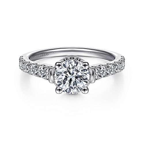 Gabriel - 14K White Gold Diamond Engagement Ring