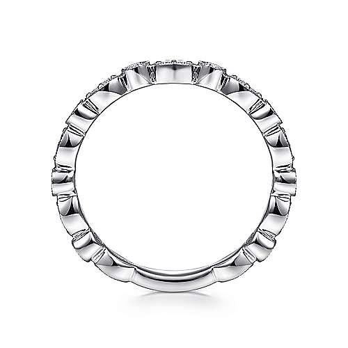 14K White Gold Diamond Ladies