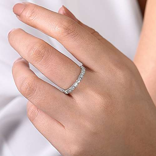 14K White Gold Diamond Ring angle 5