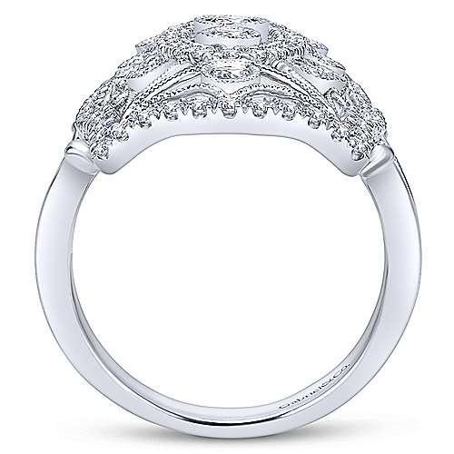 14K White Gold Diamond Ring angle 2
