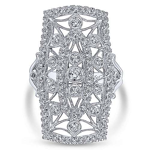 14K White Gold Diamond Ring angle 4