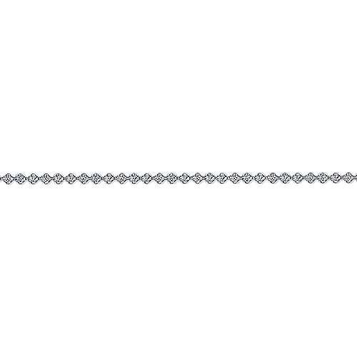 14K White Gold Diamond Wrapped Tennis Bracelet