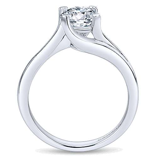 14K White Gold Engagement Ring    angle 2