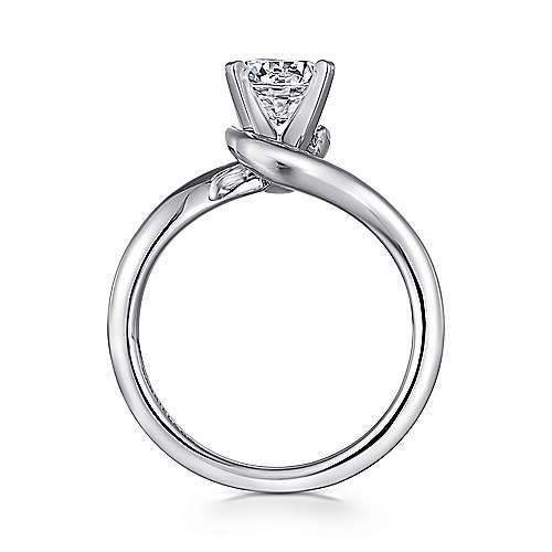 14K White Gold Engagement Ring angle 2