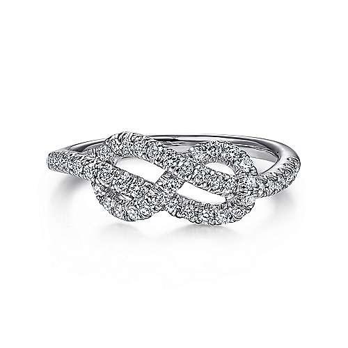 14K White Gold Eternal Love Infinity Ring