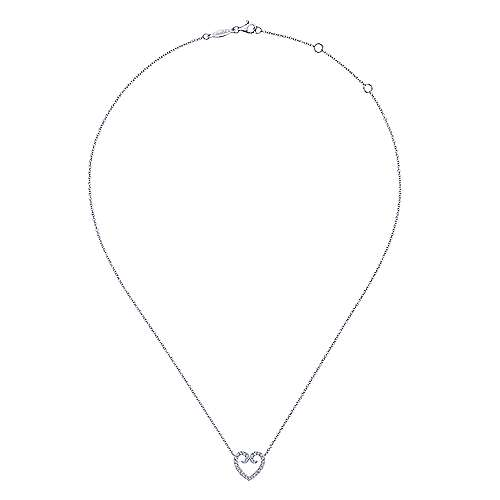 14K White Gold Fashion Necklace angle 2