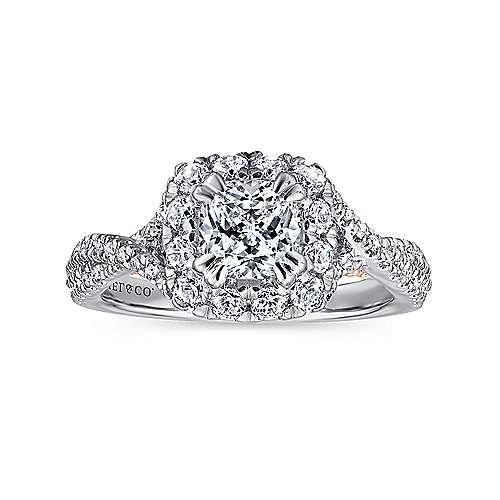14K White-Pink Gold Diamond Eng Ring angle 5
